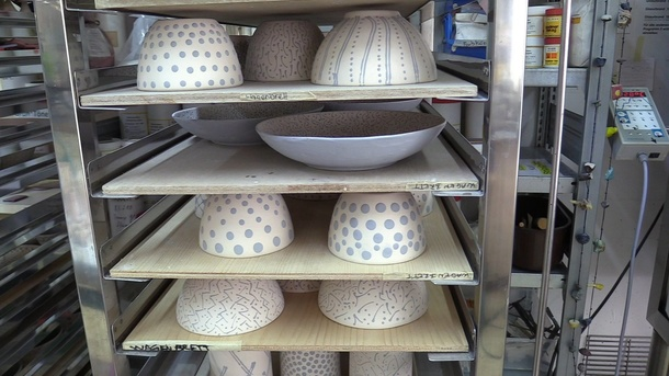Spritzkabine mit Abzug fürs Keramikatelier