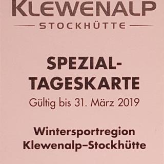 Tageskarte Winter 2018/19 Klewenalp-Stockhütte