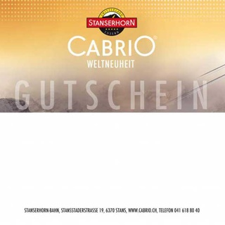2 x Tageskarten Cabrio Bahn Stanserhorn