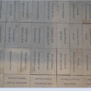 Walk of Fame, 20 x 10 Naturstein