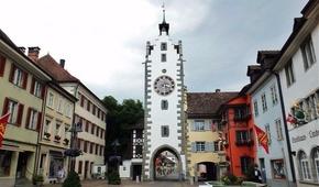 Lego-Modell des Siegelturms in Diessenhofen (im Maßstab 1:10)