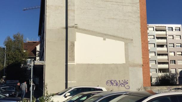 Street Art Fassade Bahnhofplatz Sursee