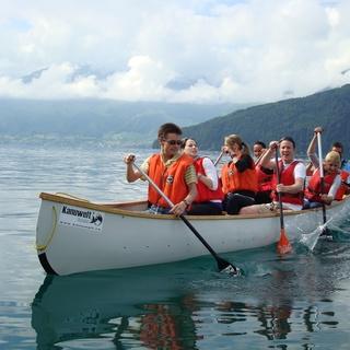 Team-Event im Kanu