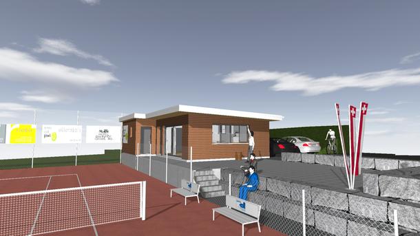 Duschen und WCs für das Clubhaus des TC Giswil