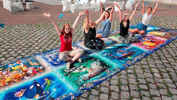 Weltrekord-Puzzle für Kinder allein auf der Flucht