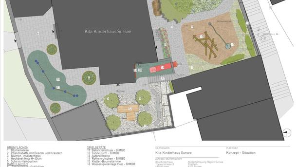 Ein naturnaher Erlebnisgarten für die Kita Kinderhaus in Sursee