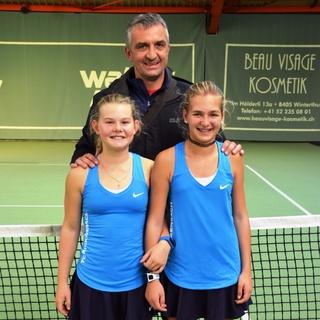 Tennistraining bei Mirko mit Jael & Sara
