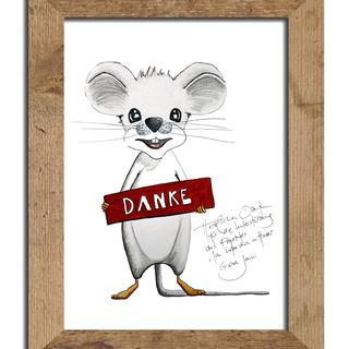 """Originalzeichnung der kleinen Maus & 1 signiertes Album """"Ich habe dich im Herzen"""""""