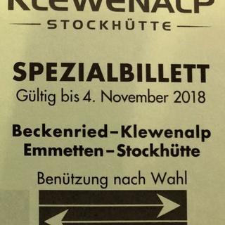 Retourfahrt Beckenried-Klewenalp / Emmetten-Stockhütte