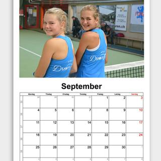 Fotokalender mit Autogramm