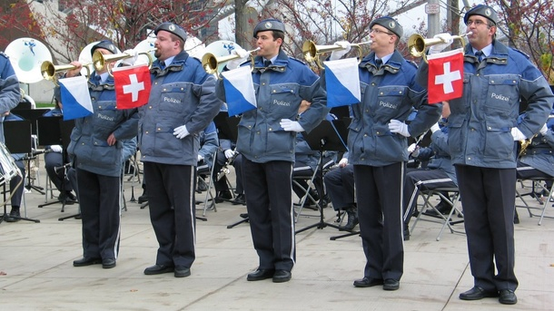 Polizeimusik Zürich-Stadt und die Thanksgiving Parade in Chicago